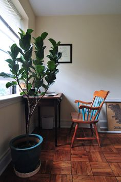 Like the partially-painted chair House Tour | Apartment Therapy