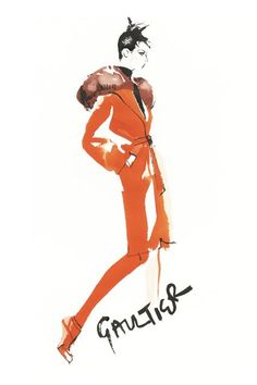 David Downton illustration.