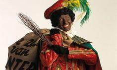 Zwarte Piet met zak en roe