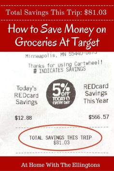 How to Save Money At Target with Target REDcard