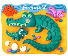 Plasticine Pictures on Behance Clay Art For Kids, Clay Projects For Kids, Kids Clay, Play Clay, School Art Projects, Fall Crafts For Kids, Drawing For Kids, Stone Crafts, Clay Crafts