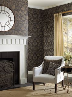 Distressed Damask is an edgy take on the traditionally formal pattern. Find it in the Veranda collection at AmericanBlinds.com