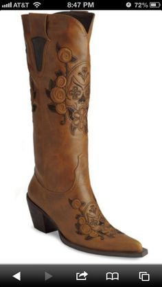 Cowgirl boots! :D
