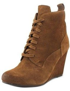 Dolce Vita Grady Women Round Toe Suede Brown Ankle Boot.