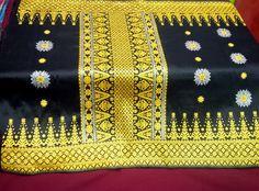call SMS whatsapp 081286427394 - Kain Songket Palembang motif cantik manis hitam kuning silver Rp 2,3 juta
