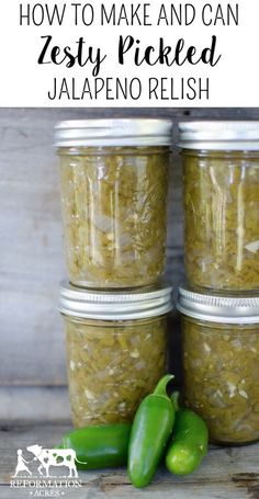 How to Make Can Zesty Pickled Jalapeño Relish jalapeno recipes; Pickled Jalapeno Relish Recipe, Relish Recipes, Canning Recipes, Canning 101, Pressure Canning, Dip Recipes, Dill Relish Canning Recipe, Fresh Jalapeno Recipes, Sweet Relish Recipe