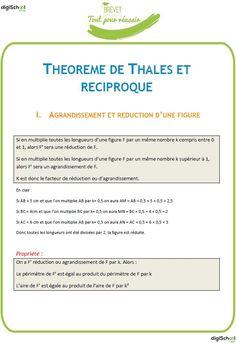 Théorème de Thalès et réciproque