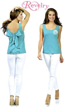 Sorority shirts for recruitment!  The Avery Bow Top is PERFECT for greek monogram print!