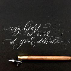 calligraphy in white ink . Brush Pen Calligraphy, Copperplate Calligraphy, Calligraphy Letters, Brush Lettering, Script Lettering, Penmanship, Typography, Modern Calligraphy Quotes, Calligraphy Lessons