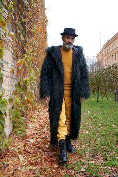 Купить шуба из эко меха под черную ламу - черный, шуба, теплый, зимняя одежда