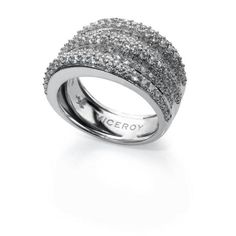 anillo plata y circonita