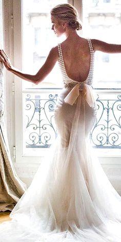 24 Mermaid Wedding Dresses From Top World Designers ❤ See more: http://www.weddingforward.com/mermaid-wedding-dresses/ #wedding #dresses