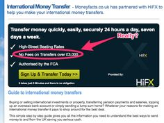 HiFX claim to charge 'no fees' but in reality they are gaining fees from their customers by not using the real mid-market exchange rate.