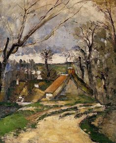 The Cottages Of Auvers Paul Cezanne Reproduction | 1st Art Gallery