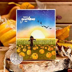 September My Monthly Hero Countdown + Giveaway: Day 2 - Hero Arts Hero Arts Cards, Changing Leaves, Thanksgiving Cards, Fall Cards, Autumn Theme, Halloween Cards, Clear Stamps, Art Blog, Making Ideas