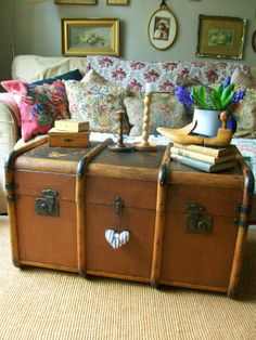 Vintage steamer trunk from Lavender House