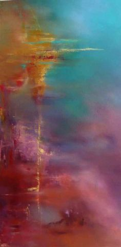 "Passage by Deanna Wilson 48""x 24"" oil -"