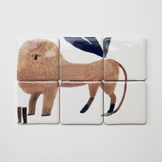 Illustrated tiles by Laura Carlin