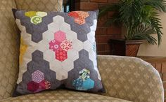 Slow Sewing: Hexie Diamond Pillow | Sew Mama Sew | Outstanding sewing, quilting, and needlework tutorials since 2005.