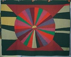 Gorgeous antique quilt made by Harriet Powers, a former slave. It's so modern looking.