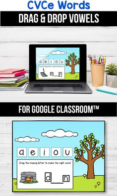 Looking for ideas for the google classroom for your kindergarten, first grade or special education kids? These activities are perfect for teachers to use in the classroom or for parents to use for homeschool. These CVCe word activities and games for beginners replace old and outdated worksheets. You can use them while distance learning to make learning CVCe words with pictures, long a, i, o and u easier or short u easier. #googleclassroom #medialsounds #digitallearning #distancelearning