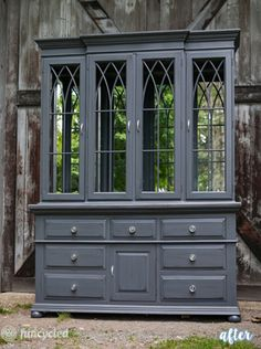 Two pieces of furniture to make one beautiful hutch.