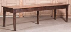 Antique Early 19th Century Rustic Banquet Table | From a unique collection of antique and modern dining room tables at http://www.1stdibs.com/furniture/tables/dining-room-tables/