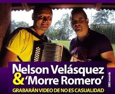 """@NelsonVelasqueD y @MorreRomero -  preparan video de """"No es Casualidad"""" - http://wp.me/p2sUeV-4hZ  - #Noticias #Vallenato !"""