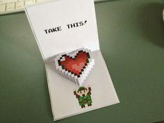 http://somethingunpredictable.tumblr.com/post/17281229928/zeldavalentine zelda pop up valentine printable!