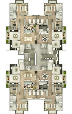 Residential Building Plan, Building Plans, Modern House Plans, House Floor Plans, Architecture Plan, Residential Architecture, Hotel Floor Plan, Luxury Floor Plans, Pool House Designs