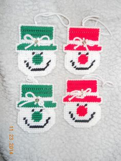 Snowmen Ornaments 4 by SpyderCrafts on Etsy