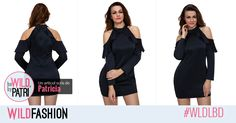 Vei fi in centrul atentiei purtand aceasta LBD trendy! Lbd, Cold Shoulder Dress, Casual, Dresses, Fashion, Vestidos, Moda, Fashion Styles, Dress