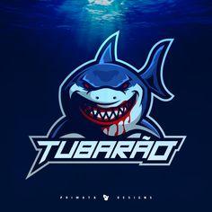 Shark logo designed by Tiago Fank. Hai Tattoos, Shark Logo, Game Logo Design, Esports Logo, Sports Graphics, Great White Shark, Animal Heads, Typography Logo, Cool Logo