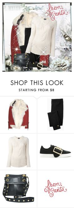 """""""Santa Baby"""" by seafreak83 on Polyvore featuring Anthony Vaccarello, Kate Spade, Woolrich, Burberry, Hammitt, Winter, Christmas, snow and santa"""