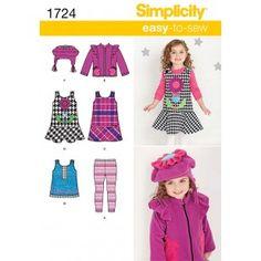 Simplicity 1724 - Children Size 1/2 1-2-3-4- 2012 jumper jacket, hat, tights