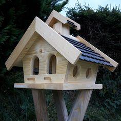 Vogelhaus Putzklappe Vogelfutterhaus Vogelhäuser massives Holz Vogelhäuschen KPS | eBay