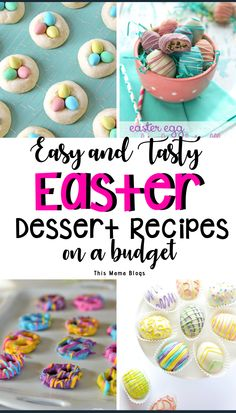 Looking for easy dessert recipes on a budget? These Easter dessert recipes will surely bring a cheer to the table and are perfect for moms looking to indulge their family with sweet goodness while keeping things frugal and inexpensive. #Easterdessertrecipeseasy #easterdessertrecipesbaking #eastertreatseasy #eastertreatsforkids