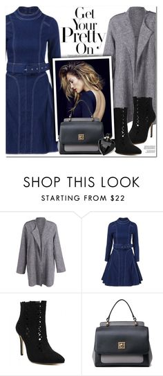 """""""Denim Dress"""" by oshint ❤ liked on Polyvore featuring Lipsy and vintage"""
