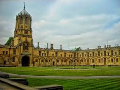 Christchurch, Oxford, England — by Esther Levy. Courtyard of Christ Church college in Oxford. One of the most amazing campuses I've ever visited. #architecture