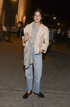 Fashion blogger Leandra Medine arrives at the rag & bone fashion show during Mercedes-Benz Fashion Week Spring 2015 at Skylight at Moynihan Station on September 8, 2014 in New York City.