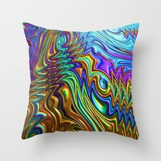 Special Fractal 22 Throw Pillow