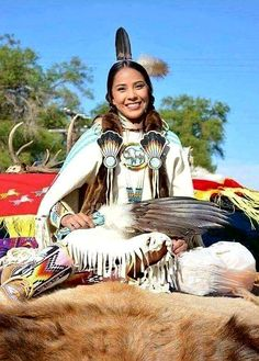Native American woman.