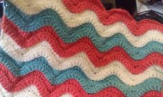 Reversible Ridged Ripple Crochet Baby Blanket