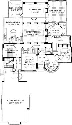 180-1032: Floor Plan Main Level