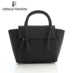 Herald Fashion Vintage Women Designer Inspire Tote Trapeze Big Ears Smiley Swing Bag Celebrity Handbag Small Women Shoulder Bag