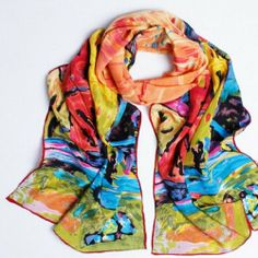 "Silkholic Women's 100% Luxurious Charmeuse Silk Long Scarf Shawl Stole 19"" W x 63"" L Floral Pattern Silkholic,http://www.amazon.com/dp/B00ICMQDW2/ref=cm_sw_r_pi_dp_yhWBtb1YYXRNAY23"