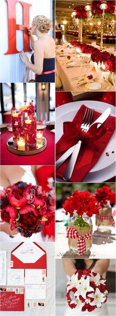 40 Fall Red Wedding Ideas We Actually Like / http://www.deerpearlflowers.com/fall-red-wedding-ideas/
