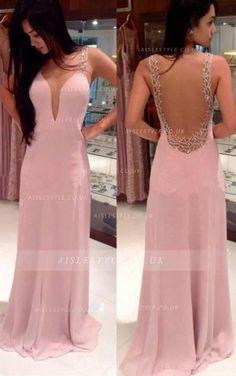 sheath/column floor-length chiffon sleeveless evening dresses