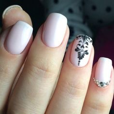 Beautiful nails 2017, Beige gel polish, Black pattern nails, Drawings on nails, Everyday nails, Fashion nails 2017, Ideas of gentle nails, Nails…