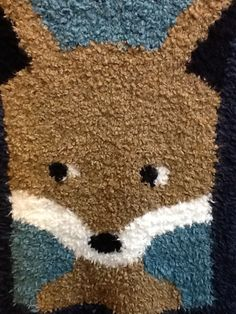 Ruthie Snell knit this really cute fox blanket!